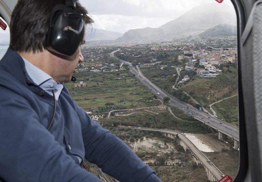 """Sicilia, Conte assicura: """"Un miliardo per dissesto idrogeologico"""""""