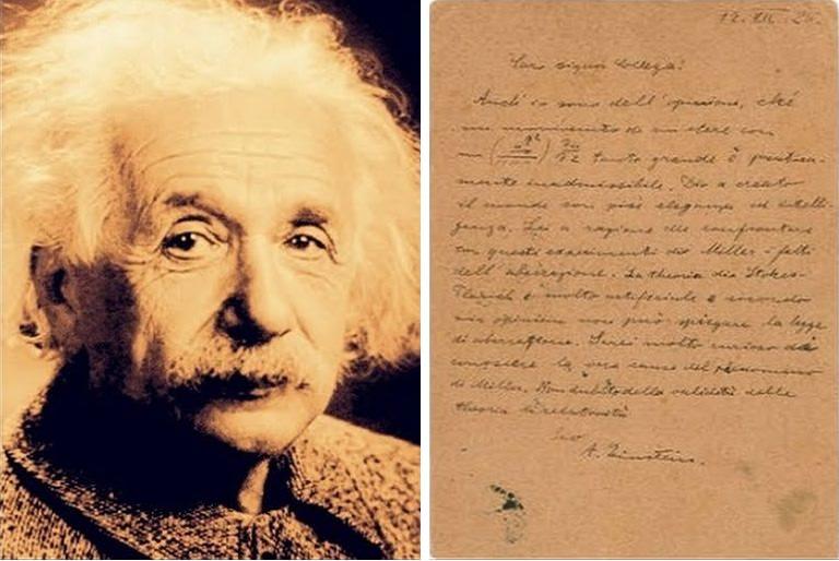 Christie's, battuta a 2.892.500ml di dollari la 'Lettera su Dio' di Einstein