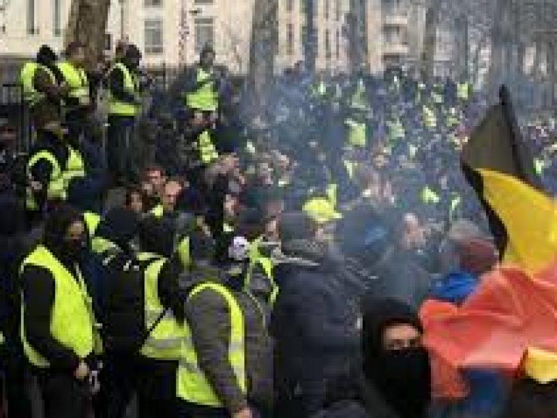Gilet gialli: scontri a Bruxelles