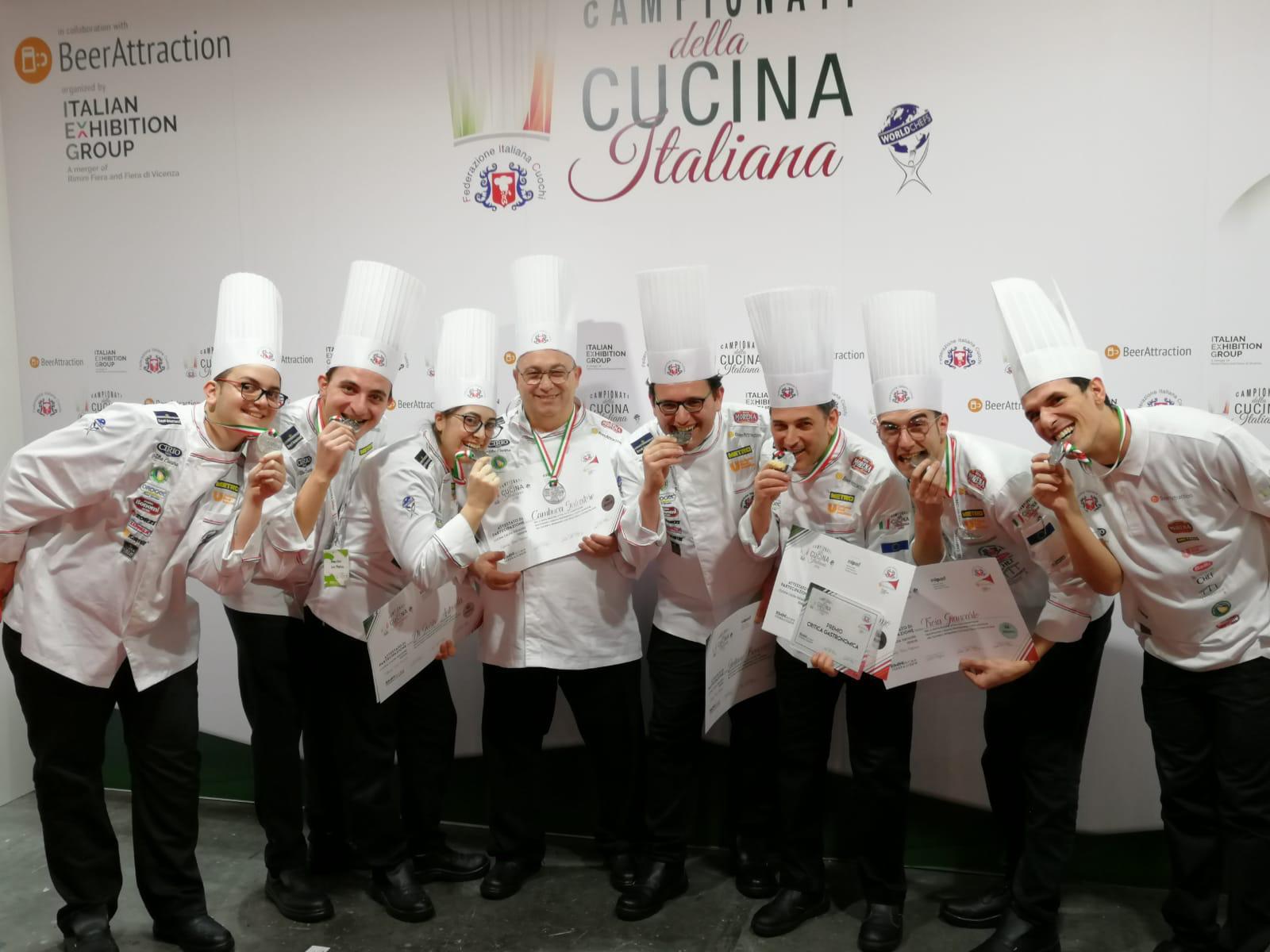 Culinary team Palermo, medaglia d'argento ai Campionati di cucina italiana