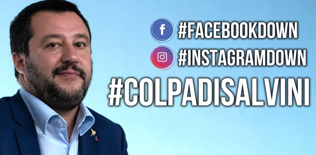 Facebook Down, il mondo si riversa su Twitter e Salvini lancia il suo meme