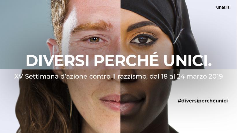 'Diversi perché unici': al via la settimana contro il razzismo