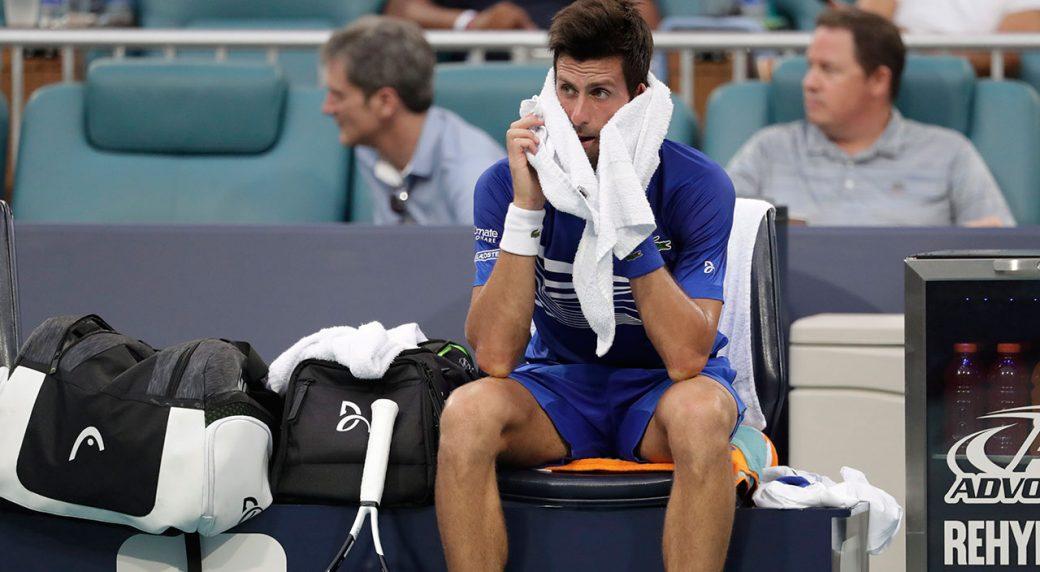 Masters 1000 Miami, Djokovic out a sorpresa. Rinviato il match di Federer