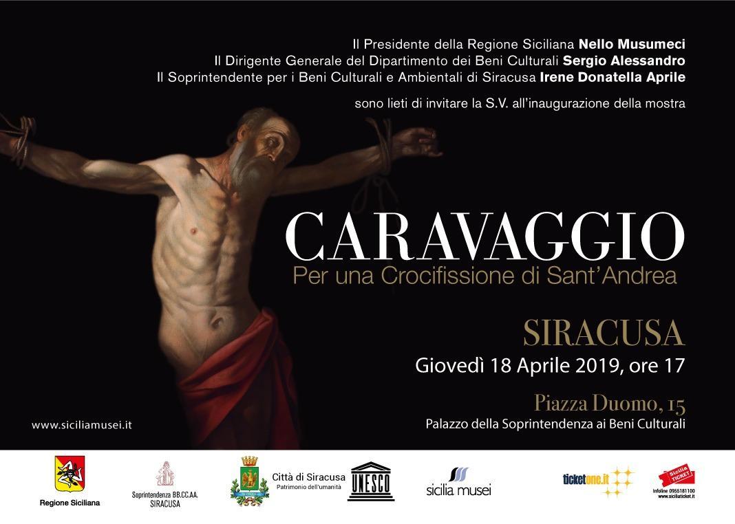 Nello Musumeci inaugura la mostra su Caravaggio a Siracusa
