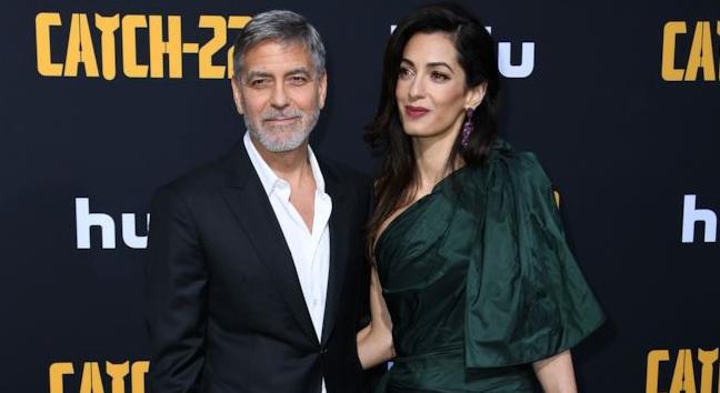 Serata romana per Clooney e Amal: proiezione e cacio e pepe