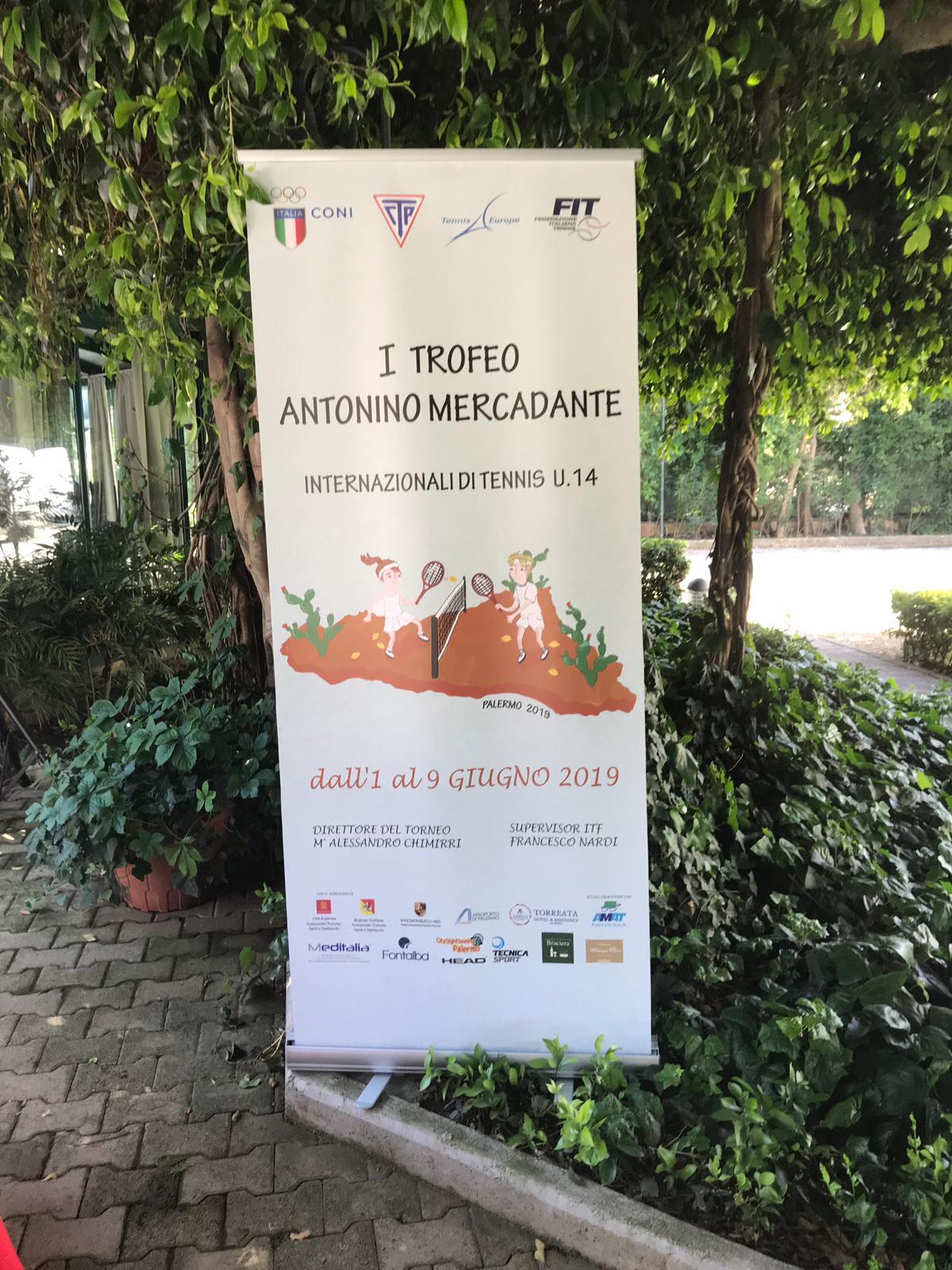 Trofeo Antonino Mercadante, a Palermo il torneo di tennis under 14