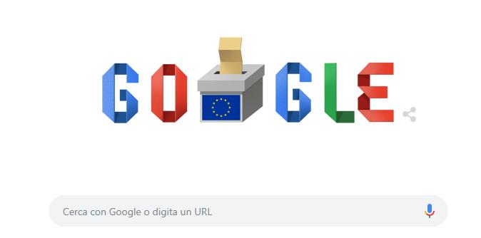 Europee 2019, Google dedica un doodle in cui risponde a tutte le possibili domande