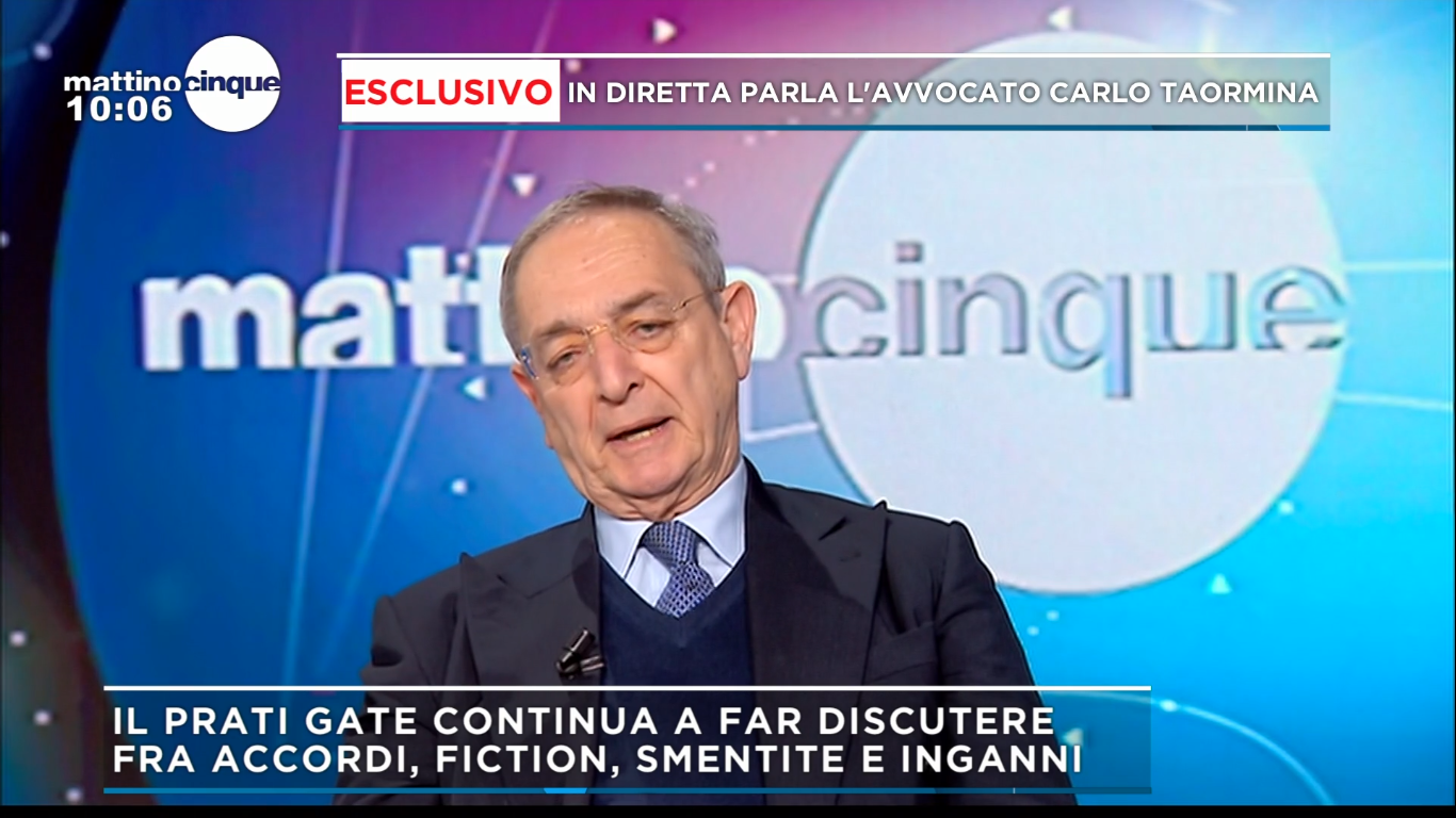 """Caso Prati, l'avvocato Carlo Taormina: """"Capito l'inganno me ne sono tirato fuori"""""""