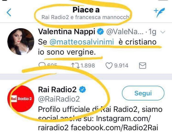 Se Salvini è geloso dei like a Valentina Nappi