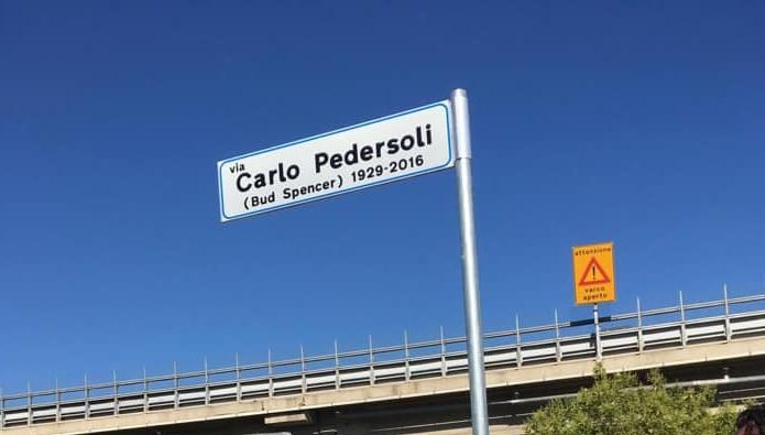 Inaugurata in Italia la prima via dedicata a Bud Spencer