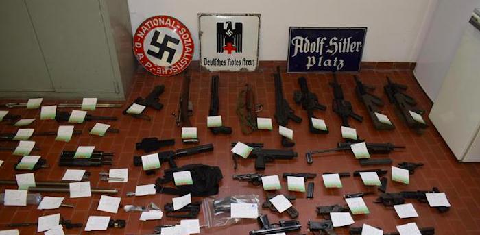 Armi da guerra sequestrate a estremisti di destra nel nord Italia