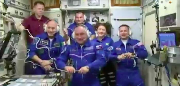 """Luca Parmitano torna nello spazio: """"È fantastico essere qui"""""""