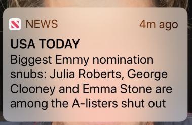 """Julia Roberts fuori dagli Emmy 2019 """"Almeno sono in buona compagnia"""""""