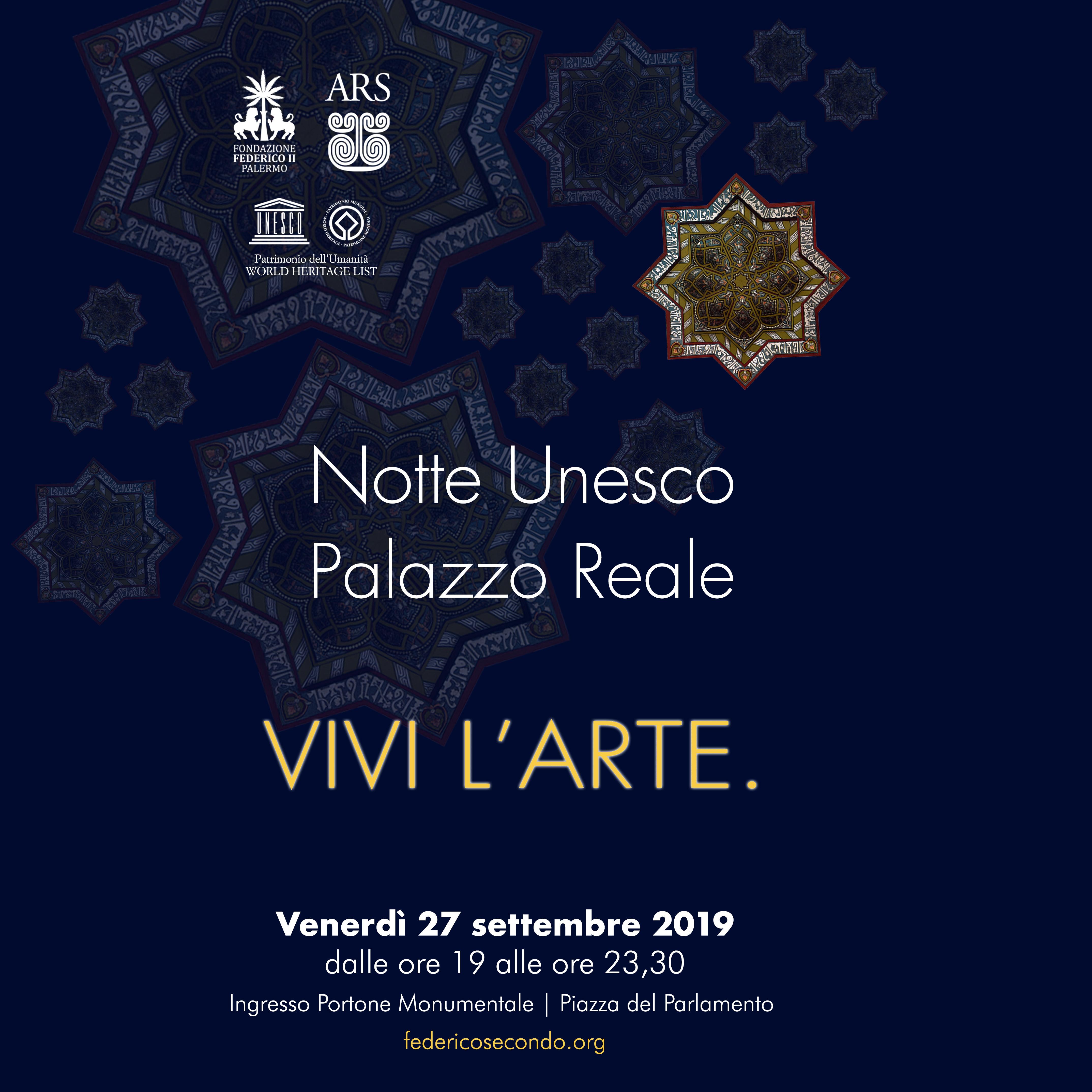 """""""Vivi l'arte"""", la magia della Notte Bianca Unesco a Palazzo Reale – Video"""