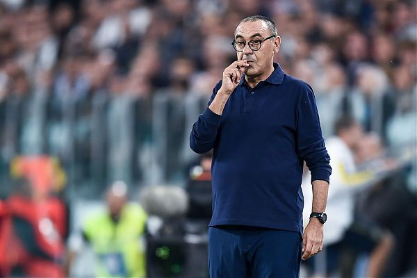 """Juve, Sarri avverte: """"Il Bayer è forte, pensare all'Inter sarebbe un errore"""""""