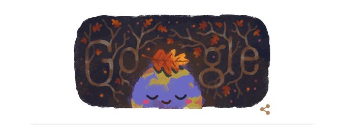Benvenuto autunno, un doodle di Google celebra la nuova stagione