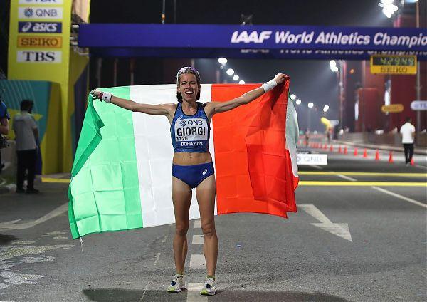 Eleonora Giorgi bronzo mondiale nella 50 km marcia