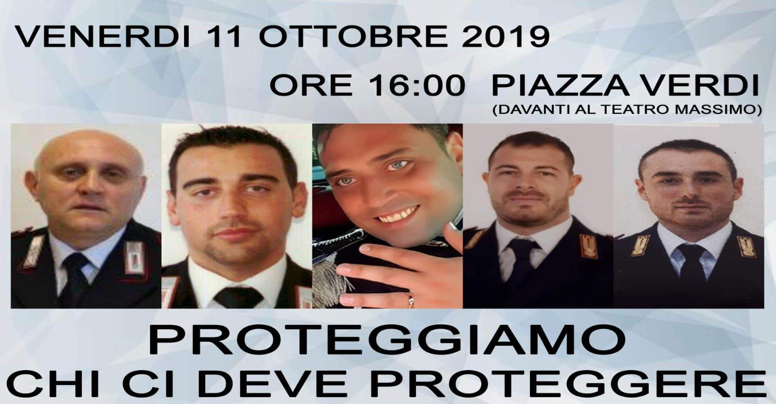 Poliziotti uccisi a Trieste, a Palermo un corteo per le forze dell'ordine