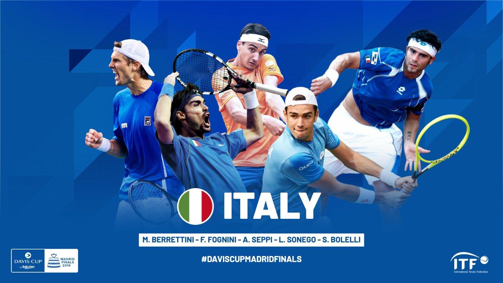Coppa Davis, la squadra dell'Italia: Berrettini e Fognini le stelle