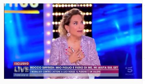 Rocco Siffredi e l'aneddoto hot che spiazza Barbara D'Urso | VIDEO