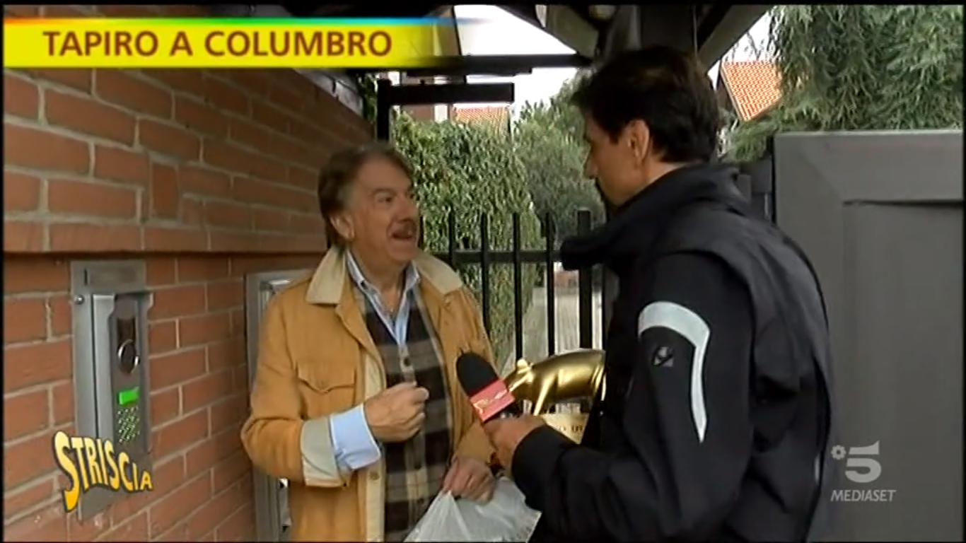 Striscia la notizia, tapiro d'oro a Marco Columbro dopo la lite con Barbara D'Urso