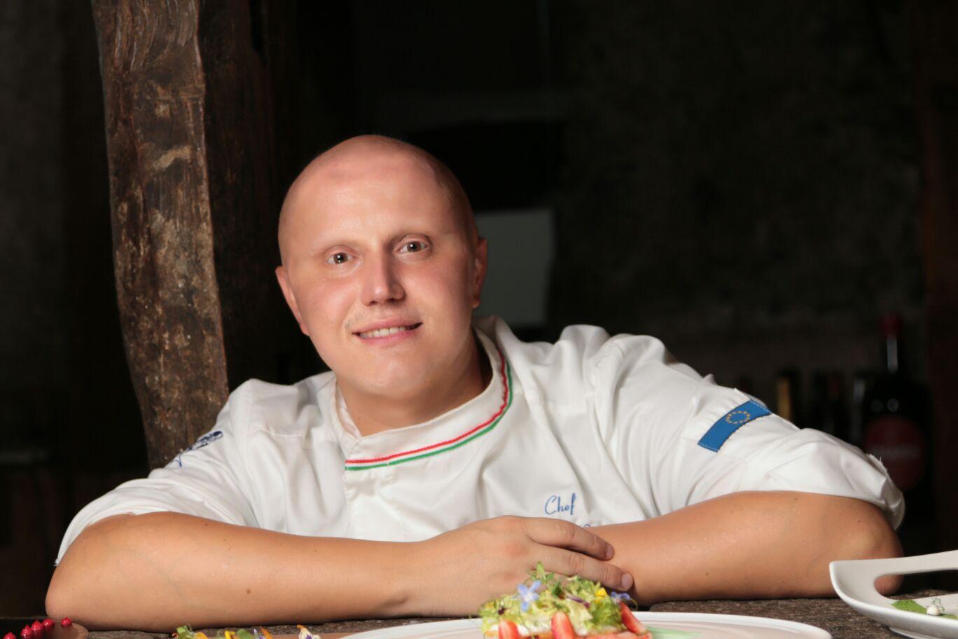 La stella Michelin Giuseppe Raciti a Milazzo per la prima cena stellata al Giardino d'Inverno