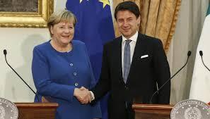 Merkel a Roma incontra Conte su sfide europee