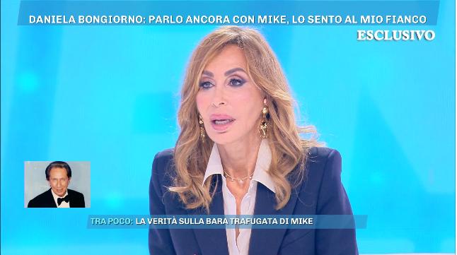 """Daniela Bongiorno a Domenica Live """"Parlo con Mike"""""""