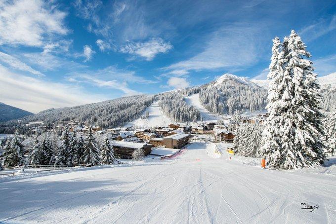 Oltre un metro di neve a Madonna di Campiglio, piste aperte e scenari da fiaba