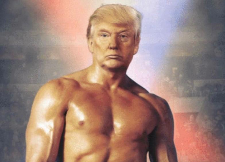 """""""Trumpy Rocky"""", il fotomontaggio twittato dal presidente Usa"""