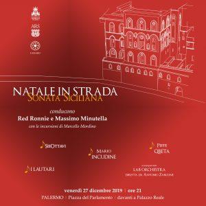 Natale in strada, sonata siciliana, palermo, fondazione federico II, Ars, Associazione Cassaro Alto, Piazza del Parlamento