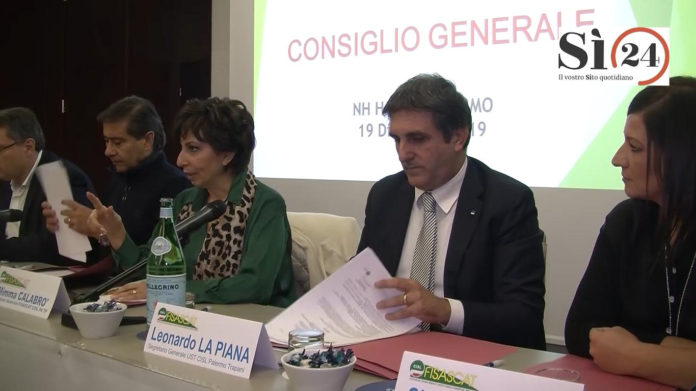 """Stati generali Fisascat Cisl Palermo e Trapani: """"Grave la situazione dell'economica locale"""""""