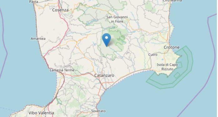 Terremoto di magnitudo 4.0 nel Catanzarese, due scosse anche in Sicilia