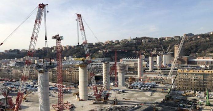 """Nuovo ponte di Genova, 14 pile completate su 18: """"Opera smart e sostenibile"""""""