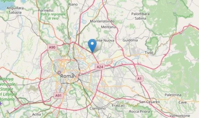 Scossa di terremoto di magnitudo 3.3 in provincia di Roma