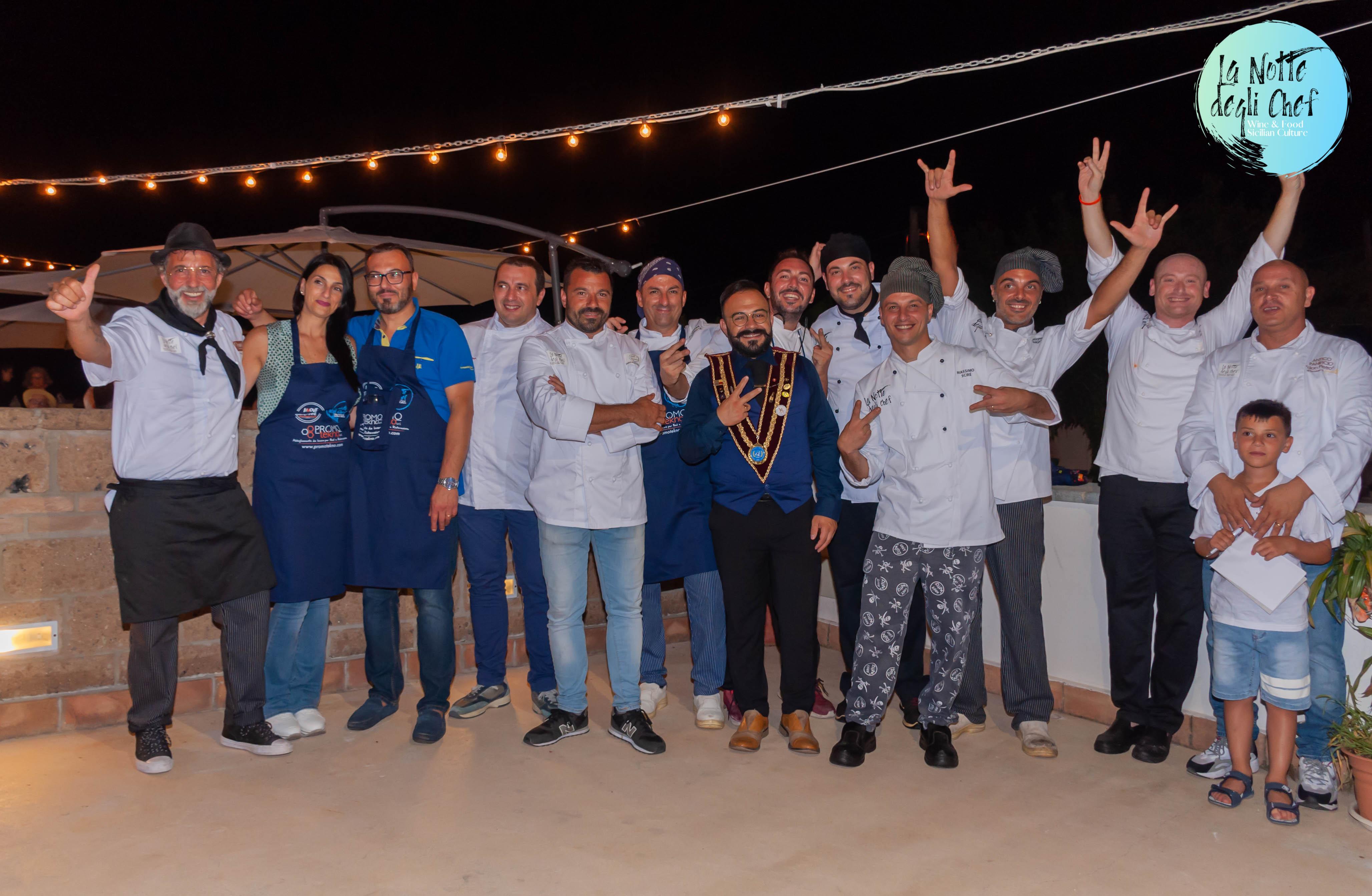"""Grande successo per """"La notte degli Chef 2020"""", la kermessededicata all'enogastronomia siciliana"""