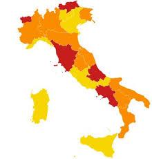Coronavirus, da oggi cambio di colore per Lombardia, Piemonte e Calabria