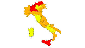 Nuovo dpcm, rosse Lombardia, Bolzano e Sicilia
